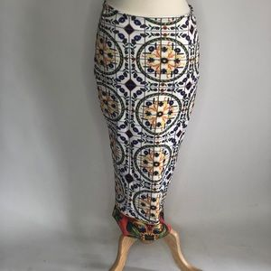 Akira Small Multicolored Fitted Sexy Pencil Skirt